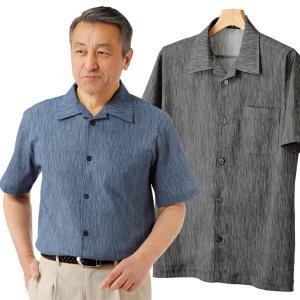 高島ちぢみ半袖シャツ メンズ 日本製 綿100% 半袖 春夏 50代 60代 953940|1147kodawaru