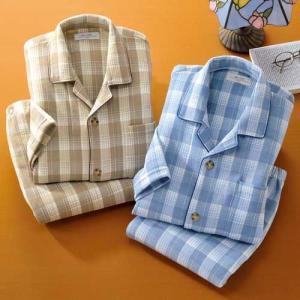 あったか裏起毛パジャマ 紳士用 2色組 メンズ 秋冬  寝間着 寝巻き 955126|1147kodawaru