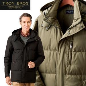 トロイブロス ダウンジャケット メンズ アウター 羽毛 高品質ダウン 700フィルパワー 防寒着 保温 フード付 秋冬 957367 50代 60代|1147kodawaru