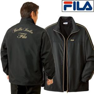 FILA フィラ 裏メッシュ ブラックジャケット メンズ 通年 ブラック ゴールド 957375 50代 60代|1147kodawaru