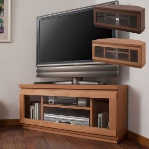テレビ台 コーナー 完成品 幅90cm 日本製 アルダー材 天然木 テレビボード TVボード TE-0044/TE-0046|1147kodawaru