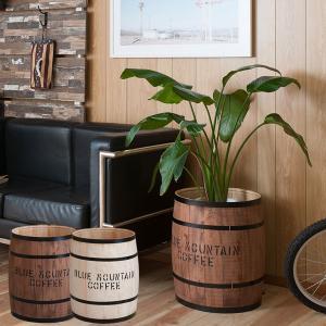 樽型収納 木樽 バレル 大サイズ 直径39cm 高さ49cm コーヒー樽 アンティーク風 ヒノキ材 日本製 完成品 DT-0004NA/DT-0004BR|1147kodawaru