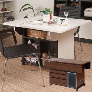 バタフライ カウンターテーブル 移動式 キッチンワゴン 幅119.5cm キャスター付き 日本製 完成品 NO-0068/NO-0069|1147kodawaru