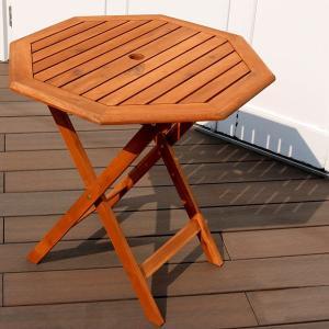 ガーデンテーブル 木製 テーブル 八角形 幅70cm ブランチ 天然アカシア カフェテーブル ガーデンファニチャー BRGT70|1147kodawaru
