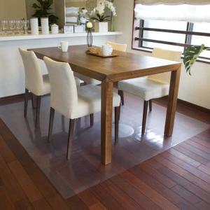 アキレス 透明ダイニングテーブル下マット(床保護マット)180×150cm(2枚連結タイプ)|1147kodawaru