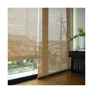 竹 ロールスクリーン 燻製竹 ロールアップシェード 和風 幅88×高さ135cm RC-1381S すだれ 間仕切り|1147kodawaru