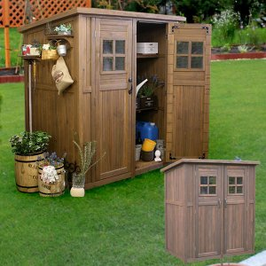 天然木 物置 小屋 屋外収納 カントリー小屋 収納庫 天然木杉材 幅156cm DNS-0177|1147kodawaru