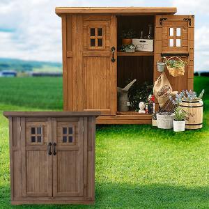天然木 物置 小屋 屋外収納 カントリー小屋 収納庫 天然木杉材 幅126cm DNS-N0710S|1147kodawaru