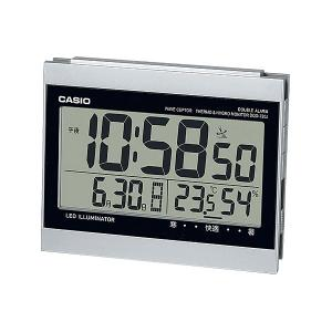 CASIO ダブル電子音アラーム機能 日付・温湿度計表示 LEDライト付き目覚まし電波時計 DQD-720J-8JF(置き時計)|1147kodawaru