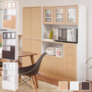 レンジ台 食器棚 キッチンボード カップボード 幅90cm スライド棚付き メラミン樹脂コート Face Neat Calm FY-0004/FY-0005/FY-0006|1147kodawaru