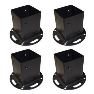 平地用ウッドポール固定金具 4個セット HBN72-4P|1147kodawaru