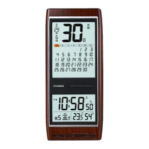 電波時計 壁掛け カシオ 壁掛け時計 カレンダー 六曜 野鳥の時報 IDC-350J-5JF ブラウン|1147kodawaru