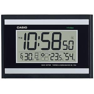 CASIO カシオ 生活環境お知らせ機能 日付・温湿度表示 電波時計 IDL-100J-1JF(掛け時計)|1147kodawaru