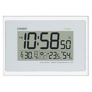 CASIO カシオ 生活環境お知らせ機能 日付・温湿度表示 電波時計 IDL-100J-7JF(掛け時計)|1147kodawaru