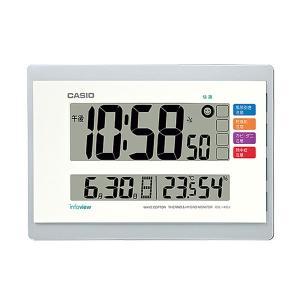 CASIO カシオ 生活環境お知らせ機能 日付・温湿度表示 電波時計 IDL-140J-7JF(掛け置き兼用)|1147kodawaru