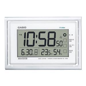 CASIO カシオ 日付曜日温湿度表示 生活環境お知らせ電波時計 IDL-150NJ-7JF(掛け時計)|1147kodawaru