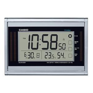 CASIO ソーラーエナジー 生活環境お知らせ機能付き電波時計 IDS-160J-8JF(掛け・置き兼用)|1147kodawaru