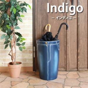 デニム風レジン傘立 ジーパン風デザイン傘立 底面マット Indigo インディゴ 70-707-YA 1147kodawaru
