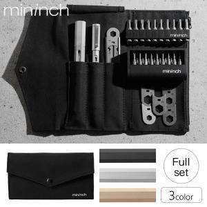 工具 mininch フルセット ツールペン ペン型マルチ工具 16ビット&22ビット&レンチ10ビット ポーチ付|1147kodawaru