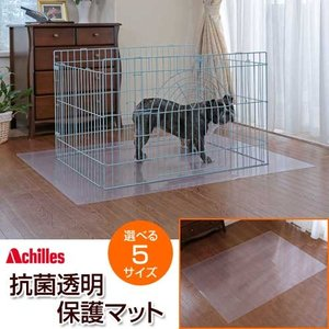 抗菌透明保護マット ペット用フローリング保護マット アキレス 60×45cm|1147kodawaru