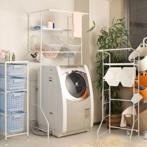 ランドリーラック バスケット付き 洗濯機ラック NJ-0070|1147kodawaru