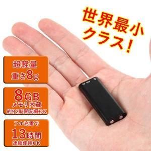 ボイスレコーダー 超小型サイズ 8GBメモリ内蔵 世界最小クラスICレコーダー コンパクト設計 簡単操作|1147kodawaru