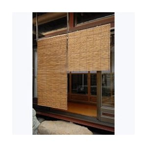 HAYATON 外吊りすだれ いぶし葦(よし)  (中)88×110cm|1147kodawaru
