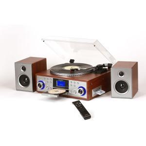 レコードプレーヤー 高音質 ピッチコントロール USB SD デジタル録音 MP3対応 木目調 TCD-915E|1147kodawaru