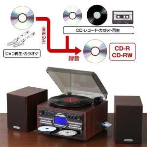 DVDカラオケ CDコピー機能付マルチプレーヤー レコードプレーヤー マイク2本付 DVDプレーヤー TS-6153|1147kodawaru
