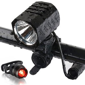 自転車ライト 1200ルーメン LEDヘッドライト機能搭載 超高輝度 4モード 充電式バッテリー U...