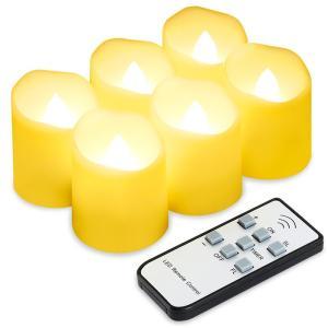 キャンドルライト 揺らぐ炎 リアル感 リモコン付き 間接 照明 スタンド 電気ろうそく クリスマス/結婚式/誕生日などに最適 6個セット|11oclock