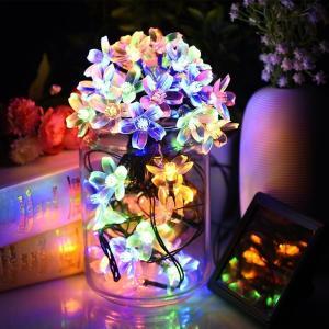 ソーラーパネル LED イルミネーション LED ライト 飾り 50個 2つ点灯モード 防雨 祝日装飾/クリスマス/パーティ/演出/ガーデニング/ツリーなど適用|11oclock