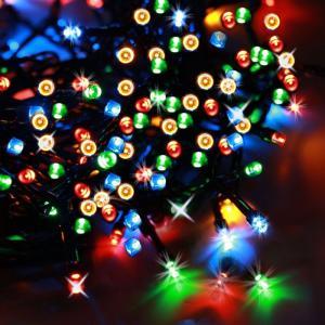 ソーラー 防雨防水型  電飾 イルミネーション LED 22m 200球 クリスマス ライト 新年 飾り付け|11oclock