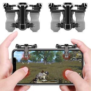 荒野行動 スマホコントローラー PUBG Mobile ゲームパッド 感応射撃ボタン 人間工学設計 高感度タッチ 高速射撃  iPhoneAndroid 対応 左右パッド 11oclock