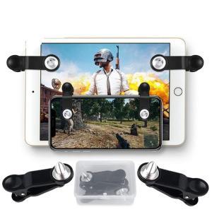 PUBG Mobile 荒野行動 コントローラー 金属製感応式射撃ボタン iPad iPhone Android対応 高耐久ボタン押しボタン式 弾節約 連続射撃実現 11oclock