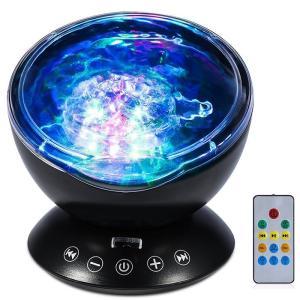 投影ランプ LEDライト プロジェクターライト インテリアライト テーブルランプ ホーム飾りライト USB投影ランプ リモコン付き 7色点灯モード切替|11oclock