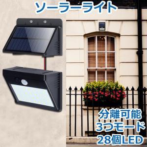 パネル分離式:ソーラーパネルと離して使えるセパレートタイプのソーラーライト。充電電池がライト単体に内...