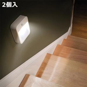 人感センサーライト LED夜間ライト 玄関用 授乳用 寝室用 粘着固定 カッコイイ 小型軽量 2個セット|11oclock