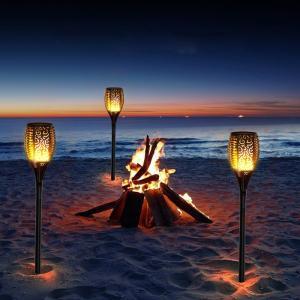 【炎のようなライト】点灯する時、ゆらゆらして、96LEDにて炎のような安全のライトでステキな空間を演...
