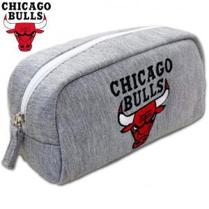 NBA シカゴ ブルズ スウェット型ペンポーチ( エヌビーエー バスケ バスケットボール グッズ ペンケース 筆箱 ペン入れ シカゴブルズ )