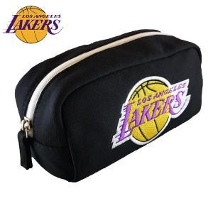 NBA ロサンゼルス・レイカーズ スウェット型ペンポーチ ブラック( バスケットボール グッズ ペンケース ロサンゼルス レイカーズ Los Angeles Lakers )