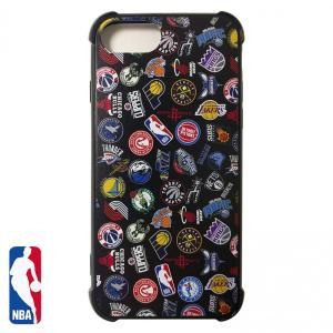 NBA iPhone 6/6s/7/8 ハードケース ALL OVER ブラック ( バスケットボール グッズ スマホケース スマホカバー iPhone6 6s 7 8 )