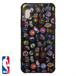 NBA iPhone X/XS ハードケース ALL OVER ブラック ( バスケットボール グッズ スマホケース スマホカバー iPhone X )