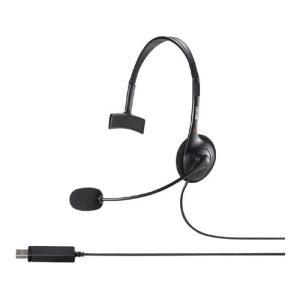 片耳ヘッドバンド式ヘッドセット USB接続 BSHSHUM110BK|123mk
