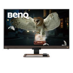 BenQ 32インチ4K高画質&高音質モニター (3840x2160/メタリックグレーxブラウン) EW3280U 123mk