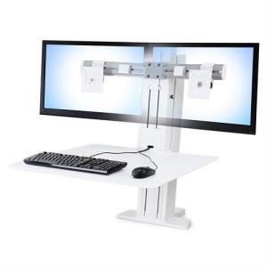 エルゴトロン WorkFit-SR デュアルモニター 昇降式ワークステーション (ホワイト) 33-407-062|123mk