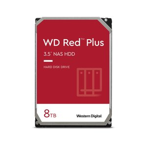 WD Red Plus 3.5インチ内蔵HDD 8TB SATA6Gb/s 7200rpm 256MB WD80EFBXの画像