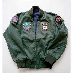 <別注3Lサイズ>12飛行隊刺繍入りリバーシブルフライトジャンパー|138etex