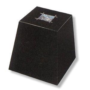 束石(黒) 御影石 本磨き 7寸 4号|148king