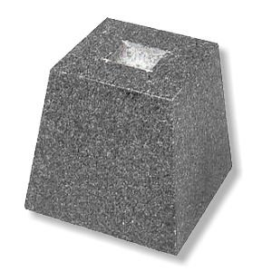 束石(グレー) 御影石 本磨き 5寸 2号|148king